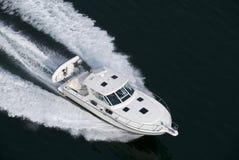 белизна быстроходного катера Стоковая Фотография RF