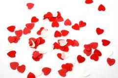 белизна Валентайн ливня сердец ванны красная Стоковая Фотография RF