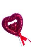 белизна Валентайн сердца предпосылки красная Стоковые Фотографии RF