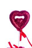 белизна Валентайн сердца предпосылки красная Стоковое Изображение