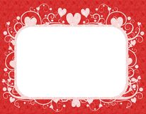 белизна Валентайн сердец красная s рамки дня Стоковая Фотография