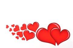белизна Валентайн 3 сердец s Стоковое Фото