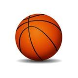 белизна вектора баскетбола шарика предпосылки изолированная иллюстрацией Стоковая Фотография