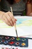 белизна вектора девушки чертежа изолированная иллюстрацией Стоковое Изображение