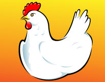белизна вектора иллюстрации курицы Стоковые Изображения