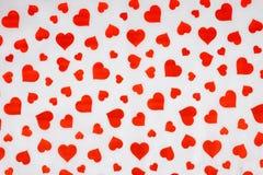 белизна вектора иллюстрации сердца предпосылки красная Бумага Валентайн дня s Стоковые Фотографии RF