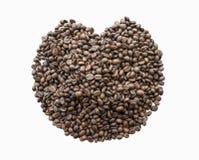белизна вектора кофе фасолей предпосылки зажаренная в духовке иллюстрацией Стоковое Изображение RF