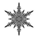 белизна вектора снежинки иллюстрации предпосылки также вектор иллюстрации притяжки corel Стоковые Изображения