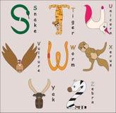 белизна вектора фоновых изображений алфавита животная стоковая фотография