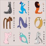 белизна вектора фоновых изображений алфавита животная стоковые изображения rf