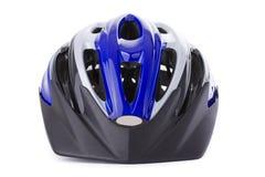 белизна велосипеда изолированная шлемом Стоковое Фото
