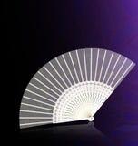 белизна вентилятора золотистая Стоковое Изображение RF