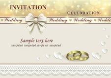 белизна венчания вектора приглашения чертежей карточки предпосылки Стоковые Изображения RF
