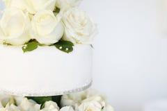белизна венчания торта Стоковое Изображение