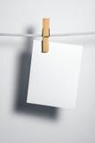 белизна веревочки пустой бумаги Стоковые Изображения
