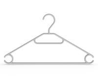 белизна вешалки пальто Стоковые Фотографии RF