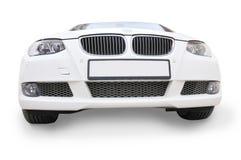 белизна вида спереди автомобиля bmw стоковая фотография rf