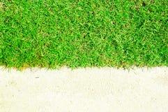 белизна влажного песка травы Стоковая Фотография RF