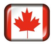 белизна влияния Канады кнопки 3d изолированная флагом иллюстрация штока