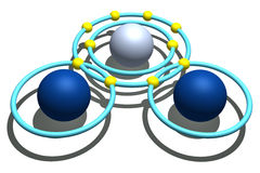 белизна воды молекулы предпосылки Стоковые Фотографии RF