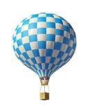белизна воздушного шара голубая Стоковое Фото