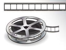 белизна вьюрка пленки задней части 35mm киносъемк иллюстрация вектора