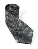 белизна галстука предпосылки изолированная способом silk стоковое фото