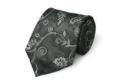 белизна галстука предпосылки изолированная способом silk стоковое фото rf