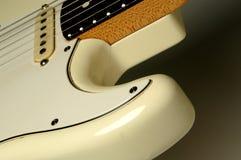 белизна гитары Стоковая Фотография
