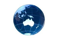 белизна глобуса Австралии стеклянная Стоковая Фотография RF