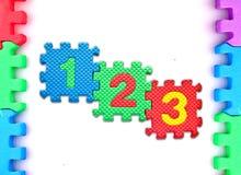 белизна головоломки номера рамки предпосылки Стоковое Изображение RF