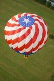 белизна голубого красного цвета воздушного шара Стоковое Изображение RF