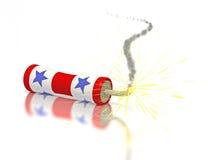 белизна голубого фейерверка красная Стоковая Фотография RF