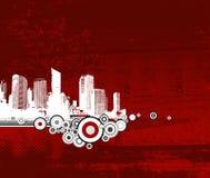 белизна города предпосылки красная Стоковое Изображение