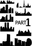 белизна города предпосылки Стоковые Изображения
