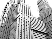 белизна города Стоковое фото RF