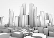 белизна города Стоковое Изображение RF