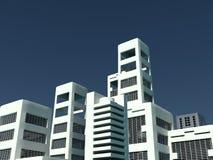 белизна городского пейзажа Стоковое фото RF
