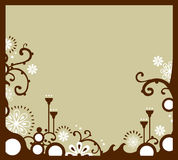 белизна граници флористическая Стоковое Фото