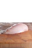 белизна груди изолированная цыпленком Стоковое Фото