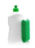белизна губки кухни бутылки Стоковое Изображение