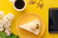 белизна губки предпосылки изолированная тортом Стоковое Изображение RF