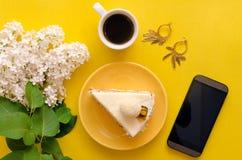 белизна губки предпосылки изолированная тортом Стоковые Фотографии RF