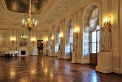 белизна дворца залы gatchina Стоковое Фото
