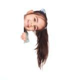 белизна девушки доски стоковая фотография