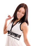 белизна девушки платья Стоковое фото RF