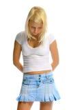 белизна девушки предпосылки белокурая Стоковое Изображение RF