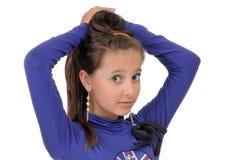 белизна девушки предпосылки Стоковая Фотография RF