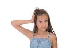 белизна девушки предпосылки Стоковое фото RF