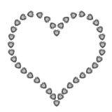 белизна диаманта предпосылки изолированная сердцем Стоковое Фото